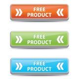 Botões livres do produto Fotografia de Stock