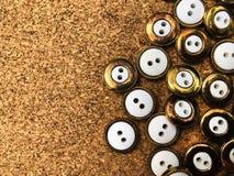 Botões, lotes dos botões Botões para costurar e ofício imagens de stock