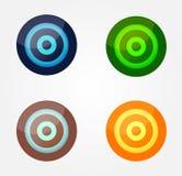 Botões lustrosos da cor ilustração do vetor