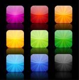 Botões lustrosos do alargamento do ícone com reflexão Imagens de Stock