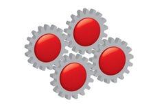 Botões mecânicos Fotografia de Stock