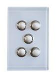 5 botões para o interruptor da luz Imagem de Stock Royalty Free