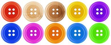 Botões plásticos isolados - colorido Imagens de Stock Royalty Free