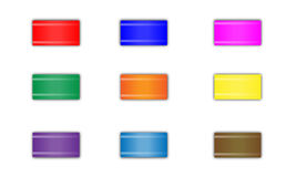 Botões quadrados Fotos de Stock Royalty Free