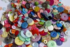 Botões recuperados coloridos Fotografia de Stock Royalty Free