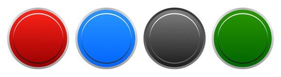 Botões redondos da Web colorida da ilustração do vetor ilustração royalty free