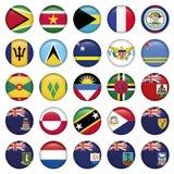 Botões redondos macios das bandeiras americanas Imagem de Stock