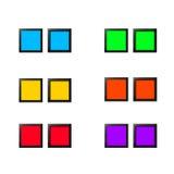 Botões vazios ajustados Fotos de Stock Royalty Free