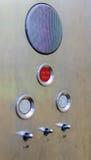 Botões velhos do painel de controle do elevador no estilo retro análogo imagem de stock royalty free