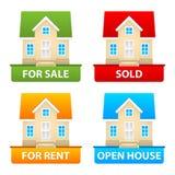 Botões venda e aluguel das casas de campo Imagens de Stock