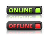 Botões OnLine e OffLine Bot%C3%B5es-verdes-e-vermelhos-do-vetor-do-estado-do-indicador-41221371