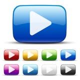 Botões video Imagem de Stock