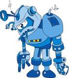 Bot azul ilustração royalty free
