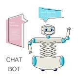 Bot bonito do bate-papo Imagens de Stock Royalty Free