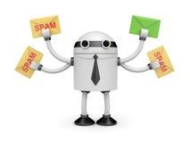 Bot d'Antispam Image stock
