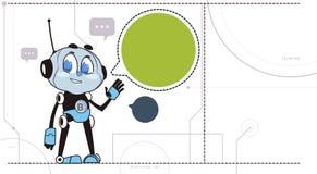 Bot de broutement de technologie de soutien de robot de Chatbot dans le concept virtuel d'aide d'écouteurs illustration de vecteur