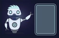 Bot de la charla Inteligencia artificial Para el sitio web o las aplicaciones móviles stock de ilustración