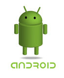 Bot del Android Fotografia Stock