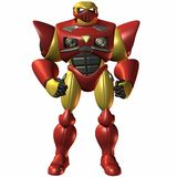 Bot-Locked super e carregado ilustração royalty free