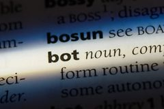 Bot. Word in a dictionary.  concept Stock Photography