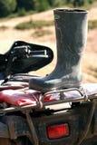 Bota alta no tronco ATV Fotos de Stock