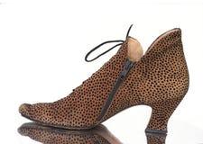 Bota da pele do leopardo Foto de Stock Royalty Free
