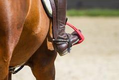 Bota de equitação do jóquei Foto de Stock Royalty Free