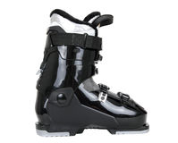 Bota de esquiar negra foto de archivo libre de regalías