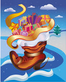 Bota de la Navidad Imagen de archivo