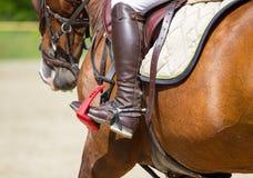 Bota de montar a caballo del jinete Foto de archivo