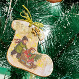 Bota del juguete de la Navidad Imagen de archivo libre de regalías