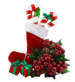 Bota do Natal com decorações Foto de Stock Royalty Free