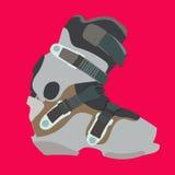 Bota do Snowboard Ilustração Stock