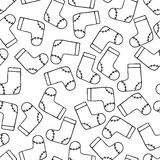 Bota inconsútil de Papá Noel del fondo del modelo Tierra de la repetición del vector de la Feliz Año Nuevo libre illustration