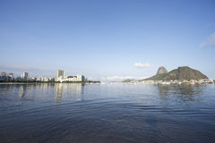 Botafogo Bay Rio de Janeiro Brazil with Sugarloaf Mountain Royalty Free Stock Images