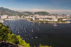 Botafogo Beach and Guanabara bay, Rio de Janeiro,  Royalty Free Stock Photo