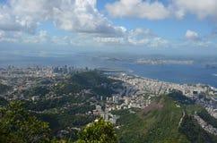 Botafogo Beach, Rio de Janeiro, Sugarloaf Mountain, sky, city, cloud, aerial photography. Botafogo Beach, Rio de Janeiro, Sugarloaf Mountain is sky, aerial Royalty Free Stock Photos
