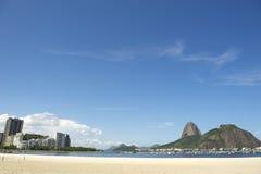Botafogo Beach with Sugarloaf Mountain Rio de Janeiro Stock Photography