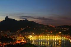 Botafogo and Christ Redeemer - Rio de Janeiro Stock Image