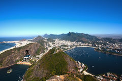 Botafogo and copacabana Royalty Free Stock Images