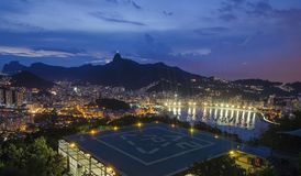 botafogo de janeiro όψη του Ρίο νύχτας Στοκ εικόνες με δικαίωμα ελεύθερης χρήσης