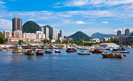 Botafogo District in Rio de Janeiro. Famous Area in Rio around Guanabara Bay Royalty Free Stock Images