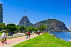 Botafogo et montagne Sugar Loaf et Urca en Rio de Janeiro Image libre de droits