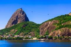 Botafogo et montagne Sugar Loaf et Urca en Rio de Janeiro Photos stock