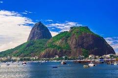Botafogo and mountain Sugar Loaf and Urca in Rio de Janeiro. Brazil stock photo