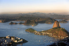 Botafogo and the sugar loaf Royalty Free Stock Photography