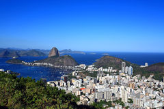 Botafogo and the sugar loaf Royalty Free Stock Photos