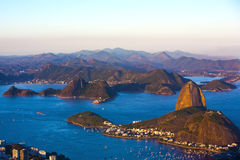 Botafogo and the sugar loaf mountain Stock Photography