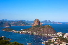 Botafogo and the sugar loaf mountain Royalty Free Stock Photos