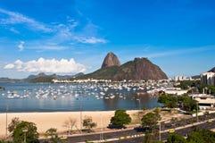 Botafogo and Sugarloaf Mountain, Rio de Janeiro Stock Image